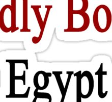 Proudly Born In Egypt Sticker