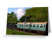Double Headed out of Corfe Greeting Card