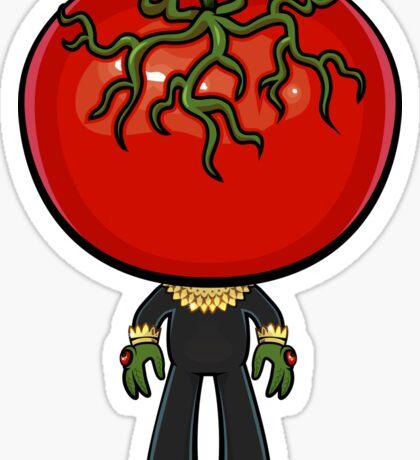 Invasion of the Saucer-Tomato Sticker