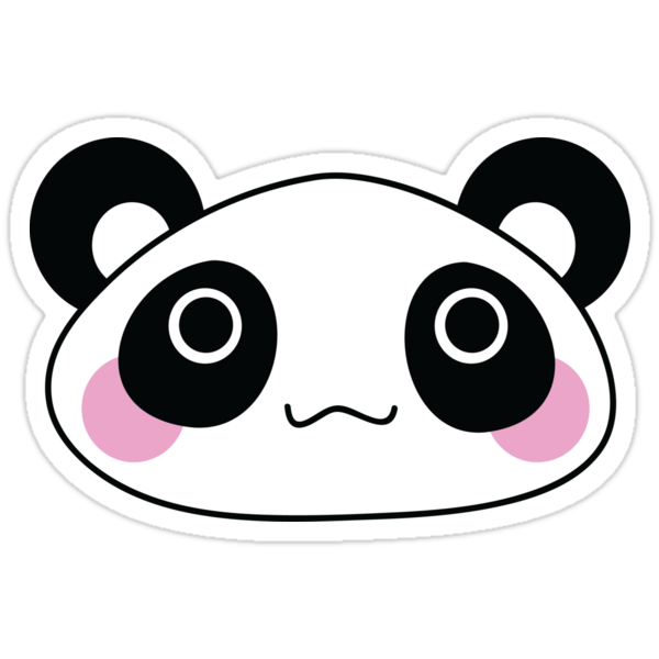 """Cute Panda"" Stickers by ArtFr33k 