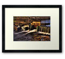 Milton Dam HDR Framed Print