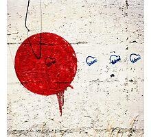Red Dot Graffiti Photographic Print
