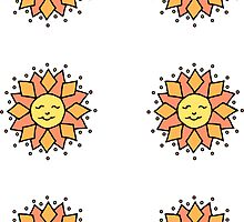 Ditzy Sun Mini Stickers by Amy-Elyse Neer