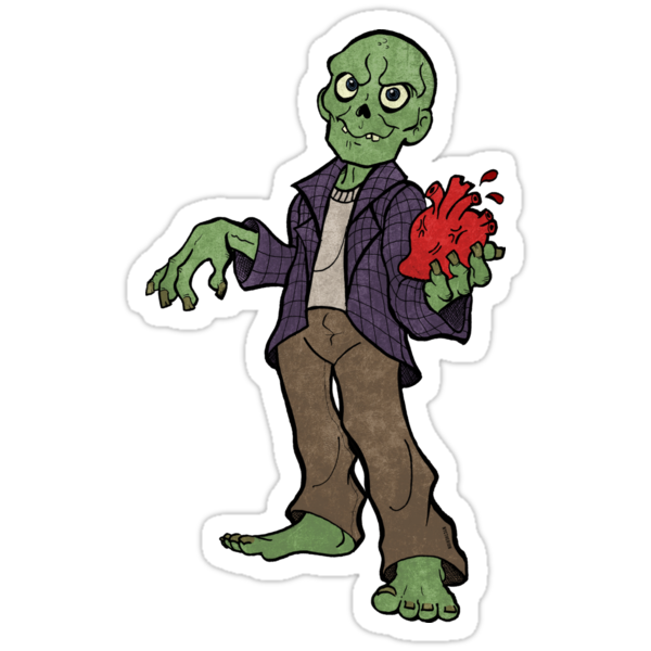 Zombie love heart by nyctherion