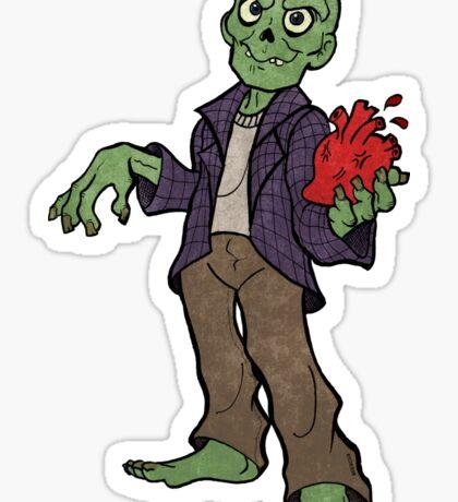 Zombie love heart Sticker
