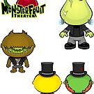 MonsterFruit Theater Large Sticker Sheet 1 by Allison Bair
