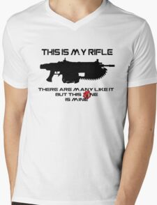 Rifleman's Creed - Gears of War Edition - Black Mens V-Neck T-Shirt