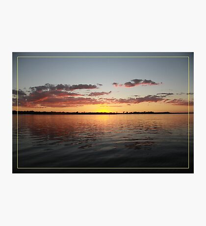 Sun has gone - calmness... Photographic Print