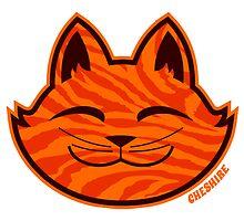 Cheshire Originals - Orange Ripple Sticker by CheshireGoMad
