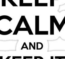 Keep Calm and Keep It Secret, Keep It Safe Sticker