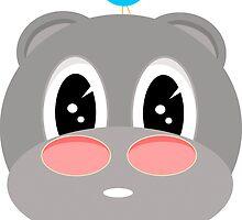 Hippy the hippopotamus by kadiko