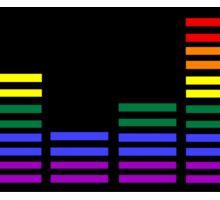 Rainbow Sound Bars (Black Backing) Sticker