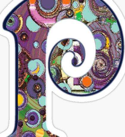 The Letter P Sticker