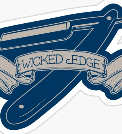 Wicked Edge - Straight Razor Sticker Sticker