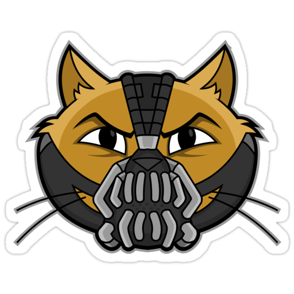 Cheshire POP! - This City Will Be A Litterbox Sticker by CheshireGoMad