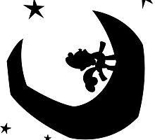 Sweetie Belle singing on the moon by PoldekPL