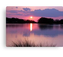 Sunset over the Sound Canvas Print
