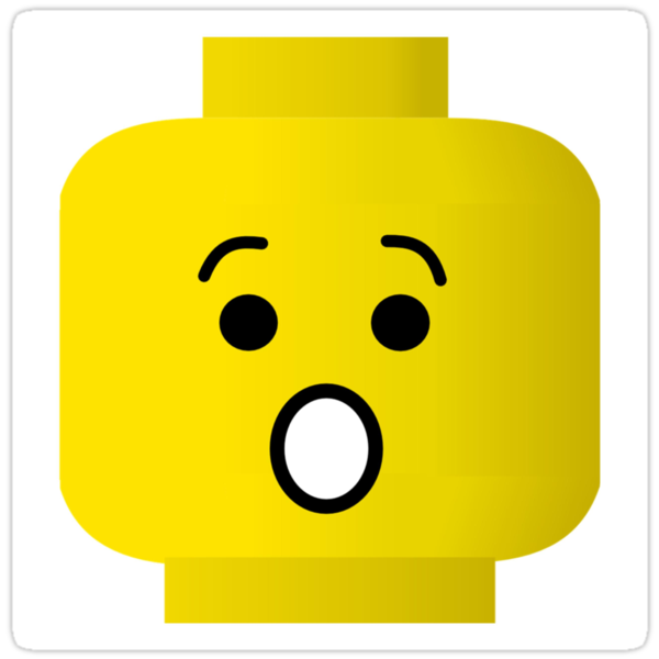 Shocked Minifig Head by Customize My Minifig