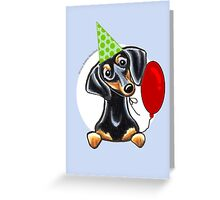 Black & Tan Dachshund Birthday Card Greeting Card