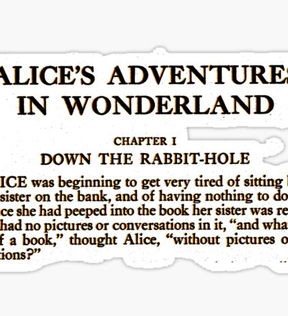 Alice In Wonderland Sticker