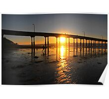 Sunset Through the Pier Poster
