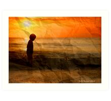 Boy on the Beach Art Print