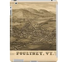 Panoramic Maps Poultney Vt iPad Case/Skin