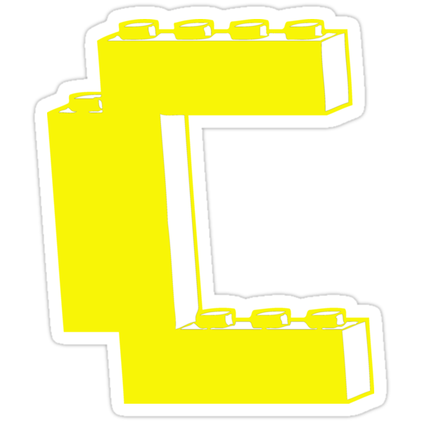 THE LETTER C, by Customize My Minifig by Customize My Minifig