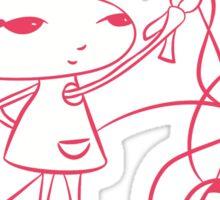 rose girl Sticker