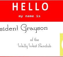 President Grayson Name Tag by IMTShop