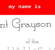 President Grayson Name Tag Sticker