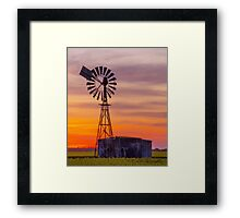 Windmill and Tank Framed Print