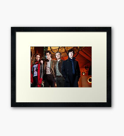 Team TARDIS Framed Print