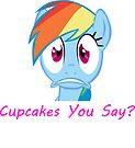 Rainbow Dash, Cupcakes You say? by eeveemastermind