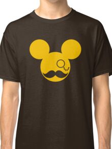Moustache British Mickey Mouse Classic T-Shirt