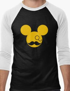Moustache British Mickey Mouse Men's Baseball ¾ T-Shirt