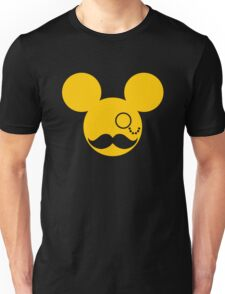 Moustache British Mickey Mouse Unisex T-Shirt