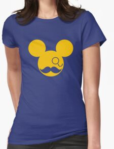 Moustache British Mickey Mouse Womens Fitted T-Shirt