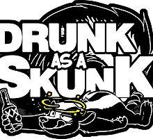 Drunk like a Skunk (Black Background) by Zhivago