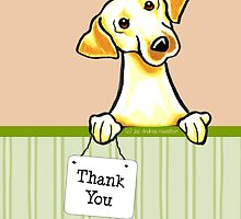 Yellow Lab Summer Melon Thank You Cards by offleashart