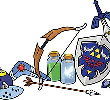 Zelda quest items by Korikian