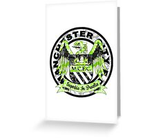 MANCHESTER CITY WHITE Greeting Card