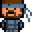 Pixel Solid Snake Sticker by PixelBlock