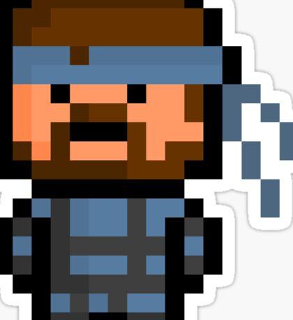 Pixel Solid Snake Sticker Sticker