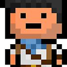 Pixel Nathan Drake Sticker by PixelBlock
