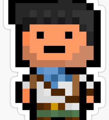 Pixel Nathan Drake Sticker Sticker