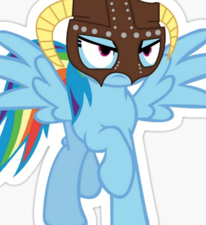 Rainbow Dash is Dragonborn Sticker