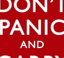 Don't Panic! Sticker Sticker