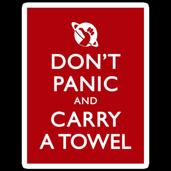 Don't Panic! Sticker by Zorava