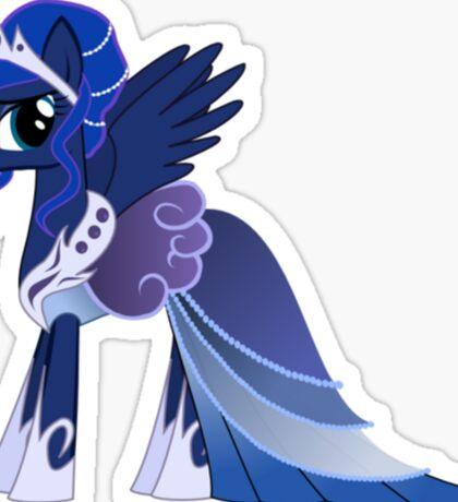 Luna In A Gown  Sticker